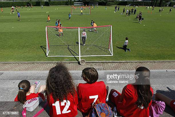 General view during the Italian Football Federation Grassroots Festival at Coverciano on June 20 2015 in Florence Italy