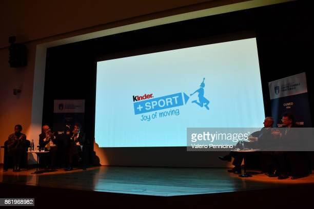A general view during the Italian Football Federation Unveils New Regional Federal Training Center In Alba at Auditorium Fondazione Ferrero on...