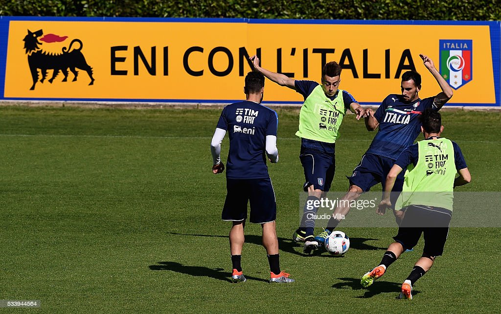 General view during the Italy training session at the club's training ground at Coverciano on May 24, 2016 in Florence, Italy.