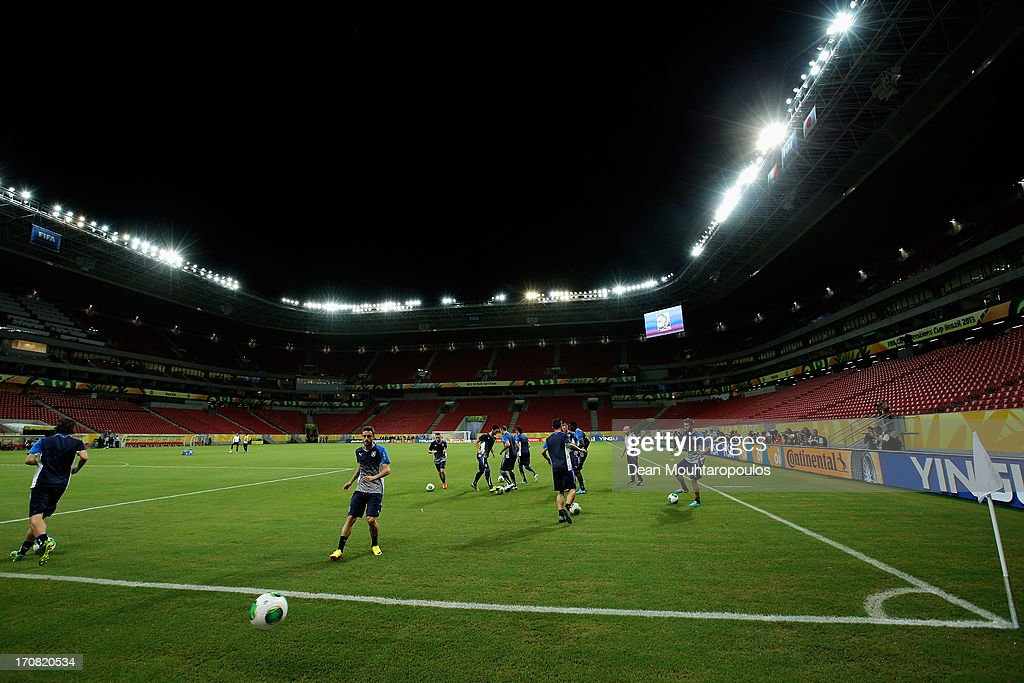 A general view during the Italy Training Session at the Confederations Cup 2013 held at Arena Pernambuco on June 18, 2013 in Recife, Brazil.