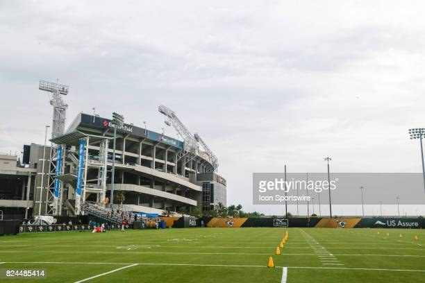 A general view during the Jaguars training camp on July 29 2017 at Florida Blue Health and Wellness Practice Field at Everbank Field in Jacksonville...