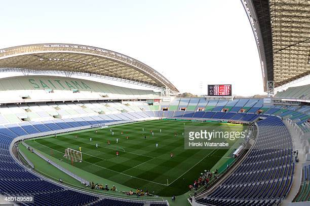 General view during the JLeague match between Urawa Red Diamonds and Shimizu SPulse at Saitama Stadium on March 23 2014 in Saitama Japan The match...