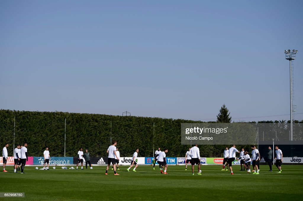 General view during the Juventus FC training on the eve of the UEFA Champions League football match between Juventus FC and FC Porto.