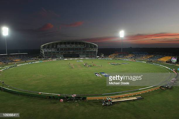 General view during the Kenya v Pakistan 2011 ICC World Cup Group A match at the Mahinda Rajapaksa International Cricket Stadium on February 23 2011...