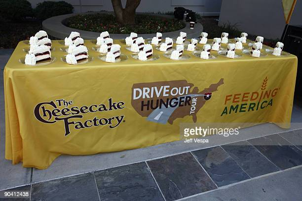 General view during the kick off for Hunger Action Month with Feeding America and The Cheesecake Factory hosted by David Arquette at the The...