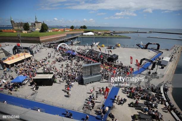 A general view during the KMD IRONMAN 703 European Championship Elsinore on June 18 2017 in Helsingor Denmark