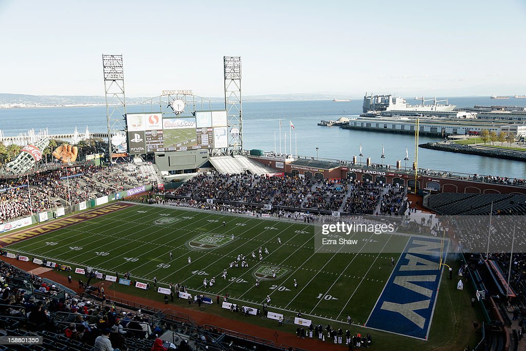 A general view during the Kraft Fight Hunger Bowl between the Arizona State Sun Devils and the Navy Midshipmen at AT&T Park on December 29, 2012 in San Francisco, California.
