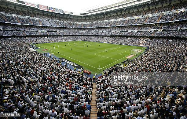 A general view during the La Liga match between Real Madrid CF and FC Barcelona at Estadio Santiago Bernabeu on October 25 2014 in Madrid Spain