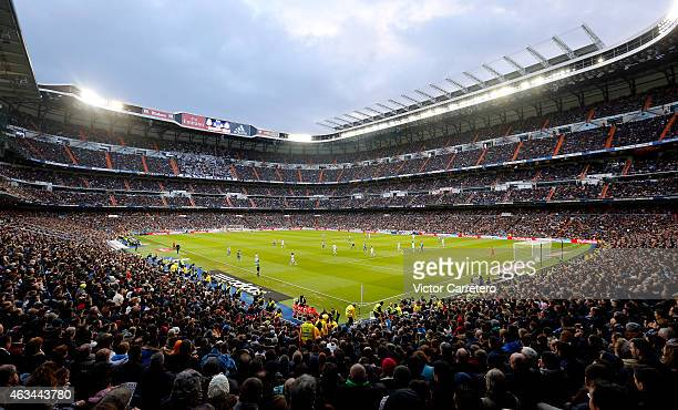 A general view during the La Liga match between Real Madrid CF and RC Deportivo La Coruna at Estadio Santiago Bernabeu on February 14 2015 in Madrid...