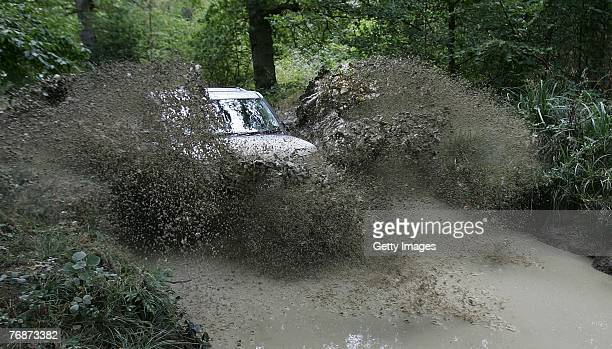 General view during the Land Rover British Eventing OffRoading Day at Eastnor Castle on September 19 2007 in Eastnor England
