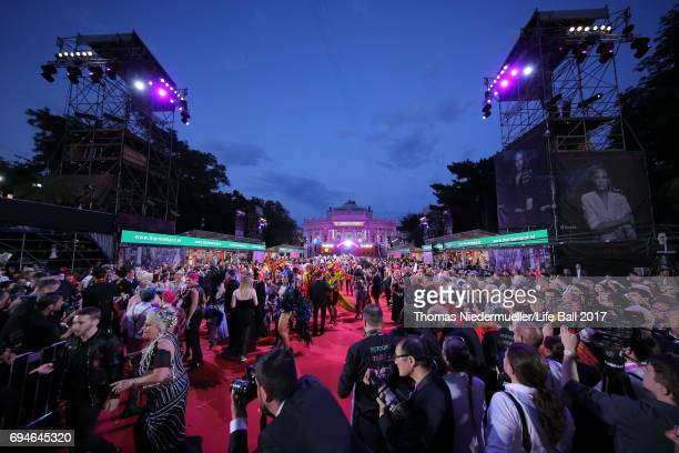 A general view during the Life Ball 2017 at City Hall on June 10 2017 in Vienna Austria