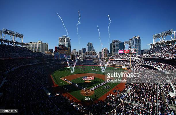 A general view during the Los Angeles Dodgers versus the San Diego Padres Opening Day game on April 6 2009 at Petco Park in San Diego California