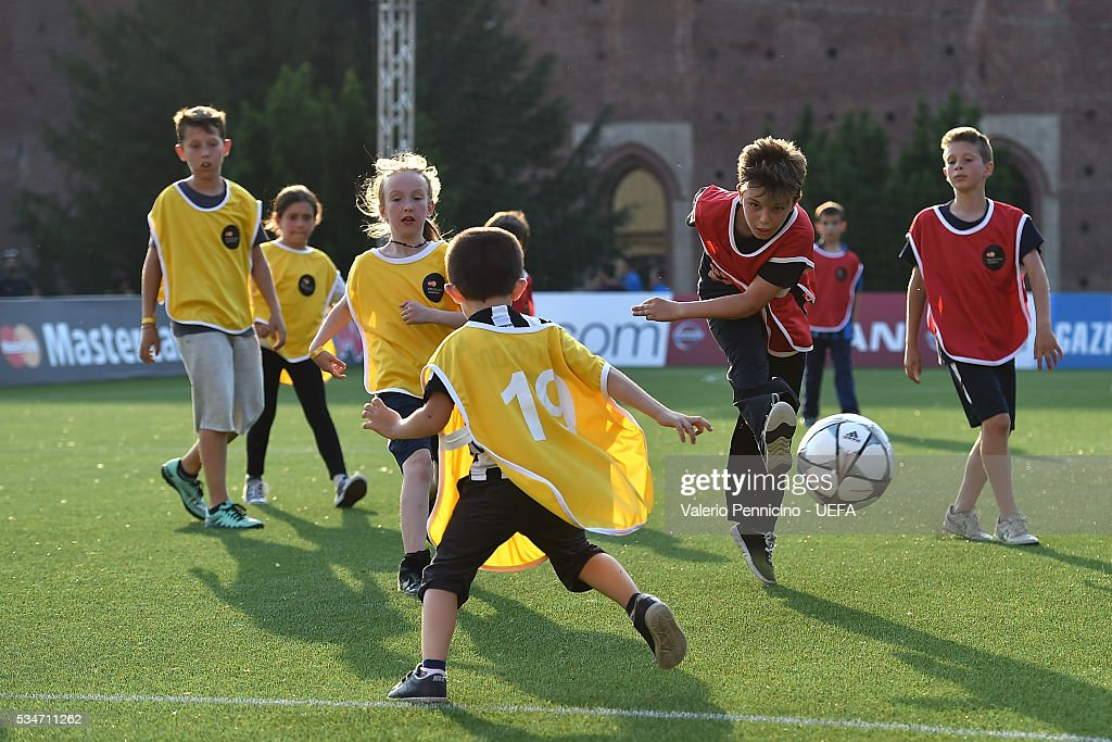 A general view during the Mastercard Penalty Shoot-out during the Champions Festival prior to the final at Stadio Giuseppe Meazza on May 27, 2016 in Milan, Italy.
