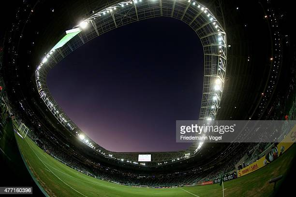 A general view during the match between Palmeiras and Fluminense for the Brazilian Series A 2015 at Allianz Parque on June 14 2015 in Sao Paulo Brazil