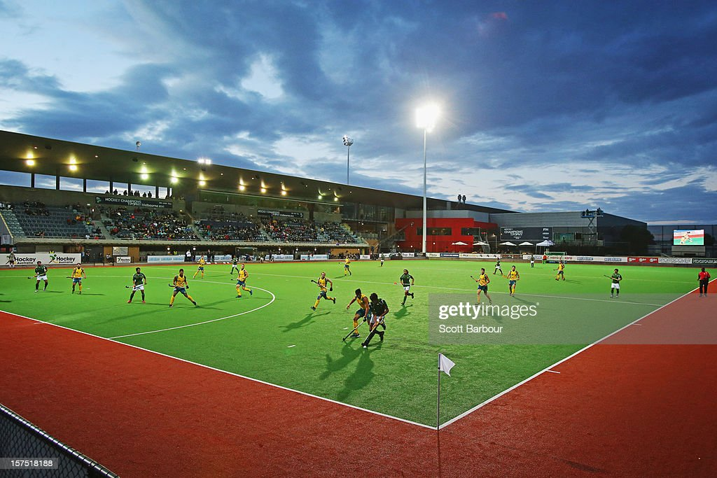 A general view during the match between the Australia and Pakistan during day three of the Champions Trophy at State Netball Hockey Centre on December 4, 2012 in Melbourne, Australia.