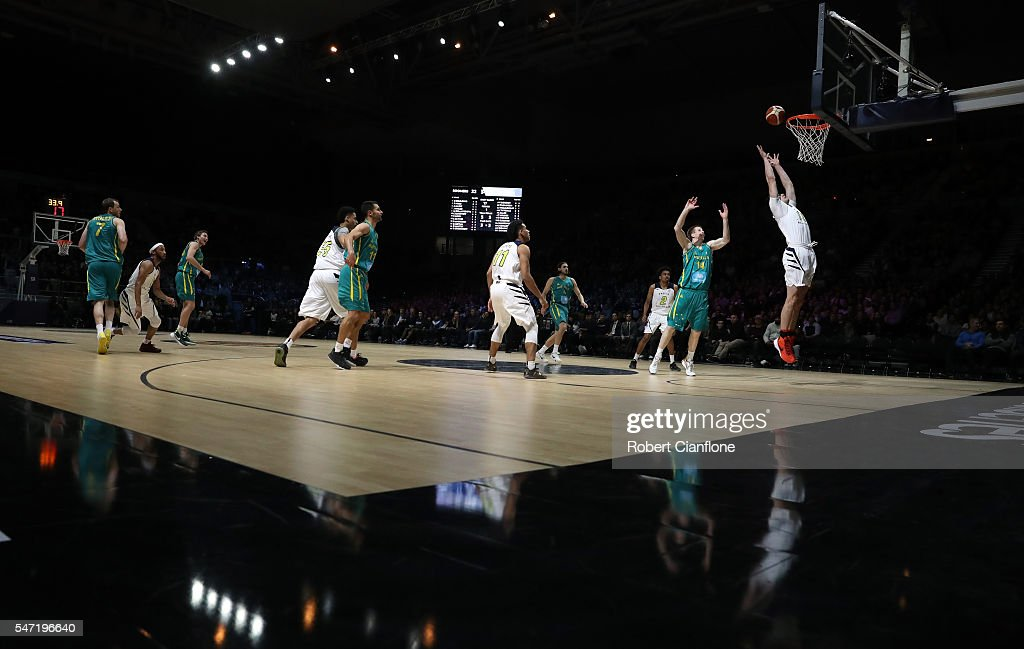 A general view during the match between the Australian Boomers and the Pac12 College Allstars at Hisense Arena on July 14 2016 in Melbourne Australia