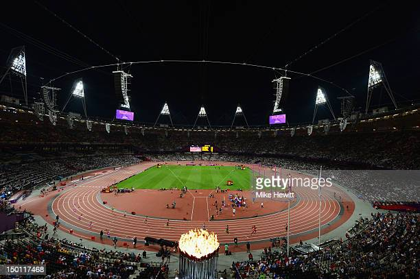 A general view during the Men's Decathlon 400m Heats on Day 12 of the London 2012 Olympic Games at Olympic Stadium on August 8 2012 in London England