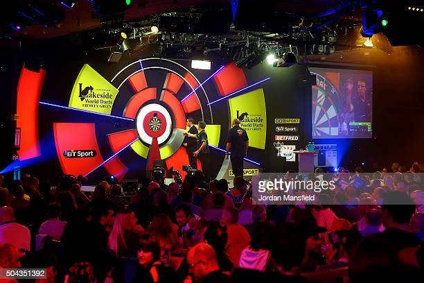 A general view during the Men's final match between Scott Waites of England and Jeff Smith of Canada during Day Nine of the BDO Lakeside World...