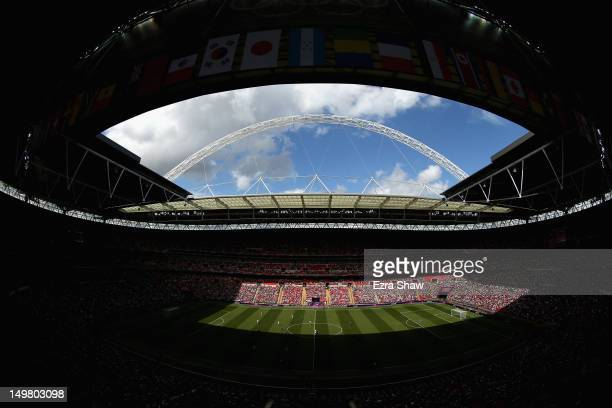 A general view during the Men's Football Quarter Final match between Mexico and Senegal on Day 8 of the London 2012 Olympic Games at Wembley Stadium...