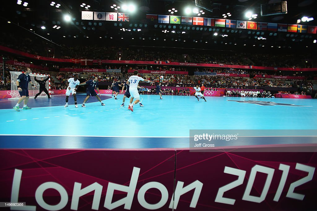 General view during the Men's Handball Preliminary match between Argentina and France on Day 4 of the London 2012 Olympic Games at The Copper Box on July 31, 2012 in London, England.