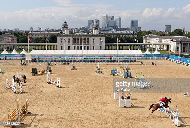 General View during the Men's riding in the UIPM World Cup Final as part of the LOCOG Test Event for London 2012 Modern Pentathlon held at Greenwich...