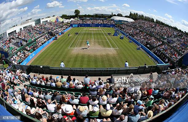 General view during the mens singles final between Denis Istomin of Uzbekistan and Sam Querrey of USA on day seven of the Aegon Open Nottingham at...