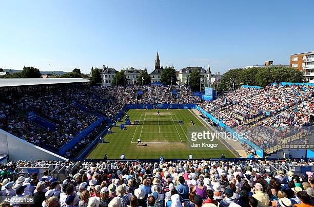 General view during the Men's Singles Final match between Feliciano Lopez of Spain and Richard Gasquet of France on day eight of the Aegon...