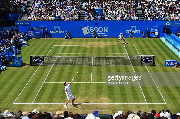 A general view during the men's singles final match between Kevin Anderson of South Africa and Andy Murray of Great Britain during day seven of the...
