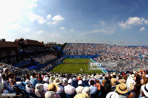 A general view during the mens singles match between Nick Kygrios of Australia and Donald Young of The United States during day one of the 2017 Aegon...