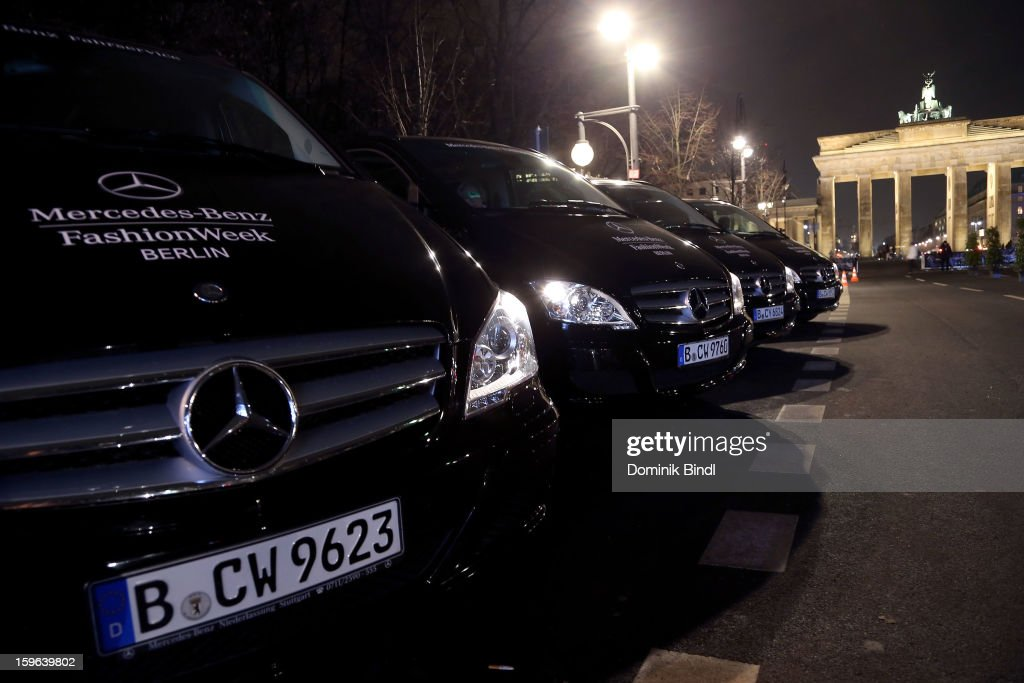 A general view during the Mercedes-Benz Fashion Week Autumn/Winter 2013/14 at the Brandenburg Gate on January 17, 2013 in Berlin, Germany.