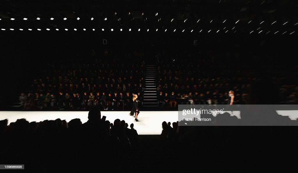 A general view during the Mercedes-Benz Fashion Week Autumn/Winter 2013/14 at the Brandenburg Gate on January 18, 2013 in Berlin, Germany.