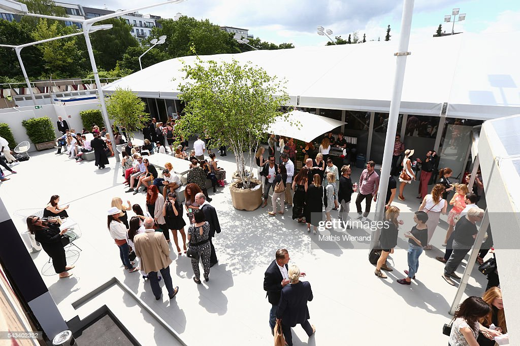 General view during the Mercedes-Benz Fashion Week Berlin Spring/Summer 2017 at Erika Hess Eisstadion on June 28, 2016 in Berlin, Germany.