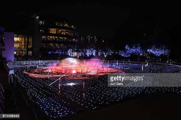 A general view during the Midtown Christmas 2017 Lighting Ceremony on November 15 2017 in Tokyo Japan