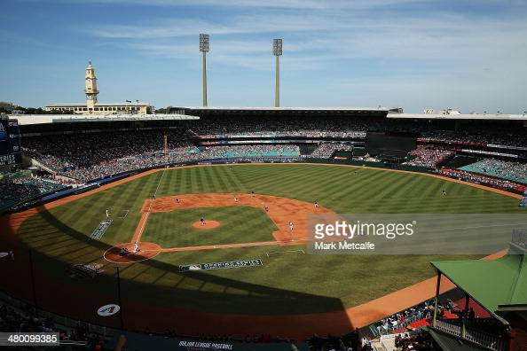 A general view during the MLB match between the Los Angeles Dodgers and the Arizona Diamondbacks at Sydney Cricket Ground on March 23 2014 in Sydney...