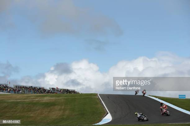 A general view during the Moto2 race during the 2017 MotoGP of Australia at Phillip Island Grand Prix Circuit on October 22 2017 in Phillip Island...