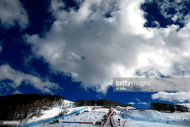 A general view during the Nations Team Event at Golden Peak Stadium on Day 9 of the 2015 FIS Alpine World Ski Championships on February 10 2015 in...