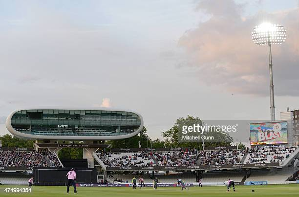 A general view during the NatWest T20 blast match between Middlesex and Kent Spitfires at Lords Cricket Ground on May 28 2015 in London England