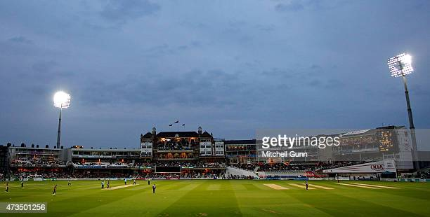 A general view during the NatWest T20 blast match between Surrey and Glamorgan at the Kia Oval Cricket Ground on May 15 2015 in London England