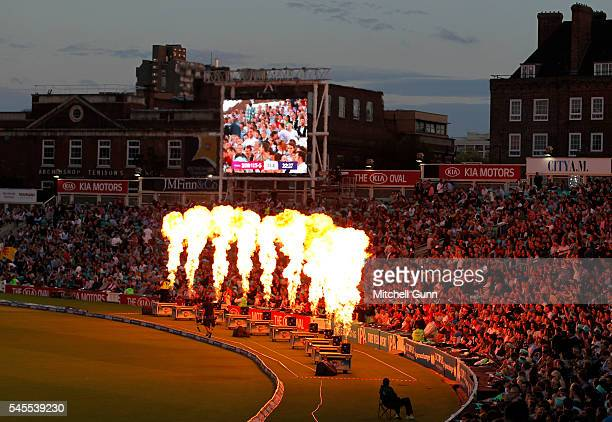 A general view during the NatWest T20 Blast match between Surrey and Somerset at the Kia Oval on July 8 2016 in London United Kingdom