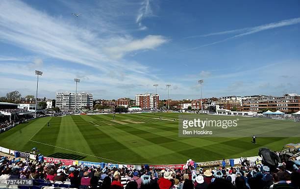 A general view during the Natwest T20 blast match between Sussex and Gloucestershire at BrightonandHoveJobscom County Ground on May 17 2015 in Hove...
