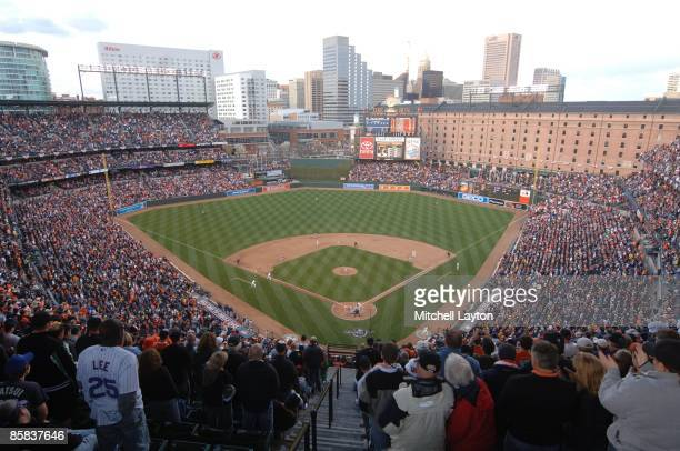 General view during the New York Yankees opening day game against the Baltimore Orioles at Camden Yards in Baltimore Maryland on April 6 2009 The...