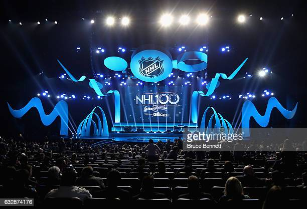 A general view during the NHL 100 presented by GEICO Show as part of the 2017 NHL AllStar Weekend at the Microsoft Theater on January 27 2017 in Los...