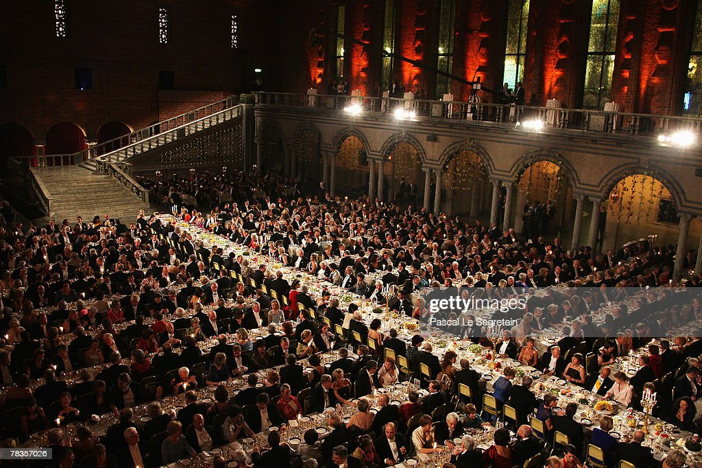 A general view during the Nobel Foundation Prize 2007 Gala Dinner at the City Hall on December 10 2007 in Stockholm Sweden
