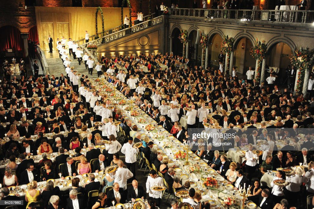 A general view during the Nobel Foundation Prize Banquet 2009 at the Town Hall on December 10, 2009 in Stockholm, Sweden.