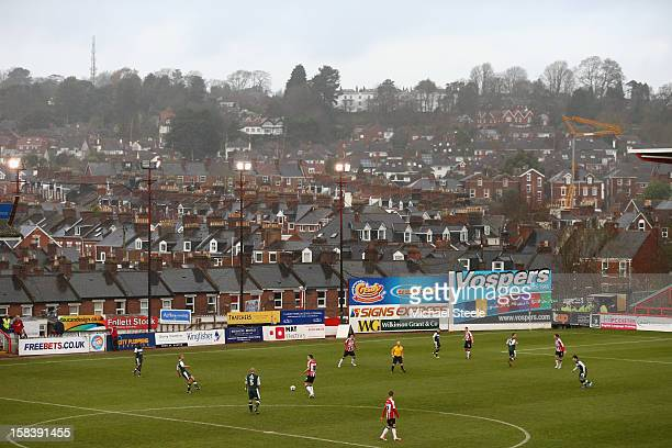 General view during the npower League Two match between Exeter City and Plymouth Argyle at StJames' Park on December 15 2012 in Exeter England