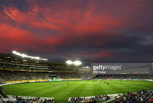 A general view during the One Day International match between New Zealand and South Africa at Eden Park on March 3 2012 in Auckland New Zealand