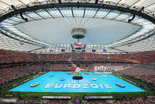 A general view during the opening ceremony ahead of the UEFA EURO 2012 group A match between Poland and Greece at The National Stadium on June 8 2012...