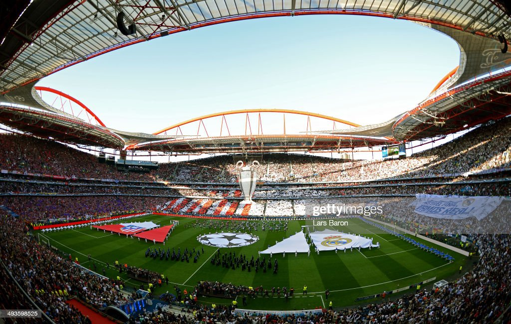 A general view during the opening ceremony during the UEFA Champions League Final between Real Madrid and Atletico de Madrid at Estadio da Luz on May...