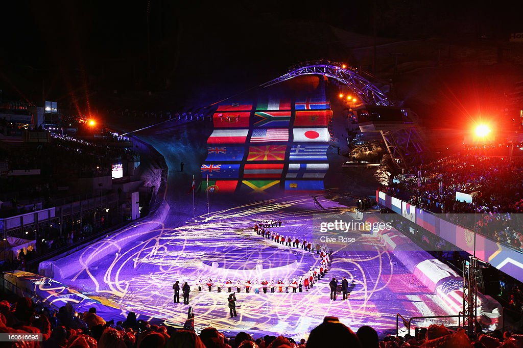 General view during the opening ceremony for the Alpine FIS Ski World Championships on February 4, 2013 in Schladming, Austria.
