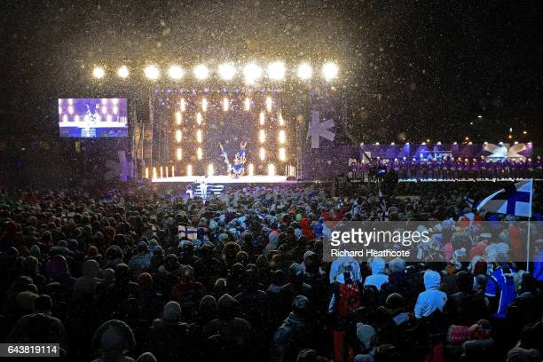 A general view during the Opening Ceremony of the FIS Nordic World Ski Championships at Medal Plaza on February 22 2017 in Lahti Finland